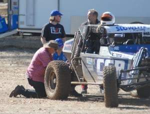 working on the buggy