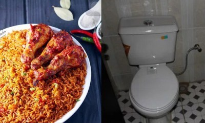 Jollof rice, poo and urine