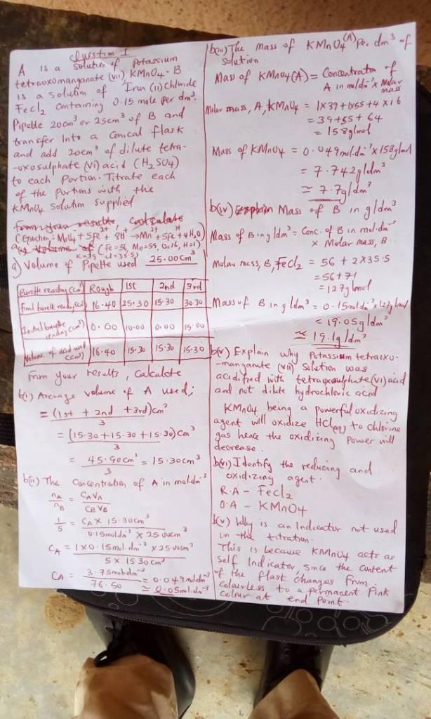 chemistry pratical expo