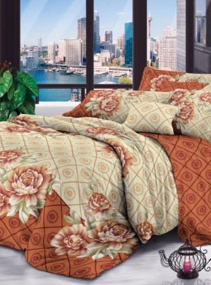 Queen Bedding Orange Set