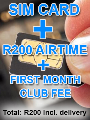 Sim Card + First Month Sexy Shopper club fee + New Number