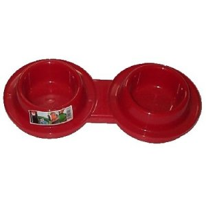 Dog Feed Bowl 0.6 Lt Double