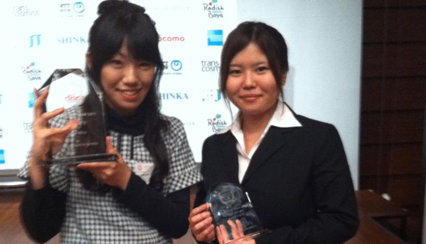 2011/11/30 代表の梶田が「大学生 of the year」にて準グランプリを受賞致しました!