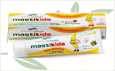 Mastiek kindertandpasta banaan