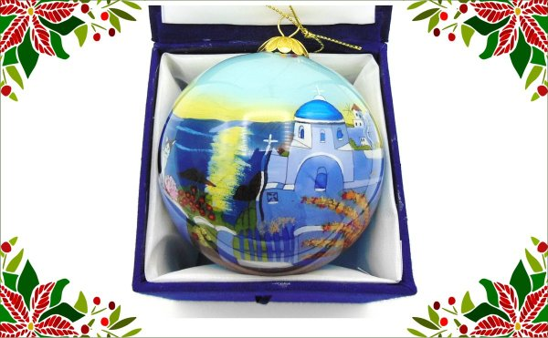Griekse kerstbal - Griekse kerk