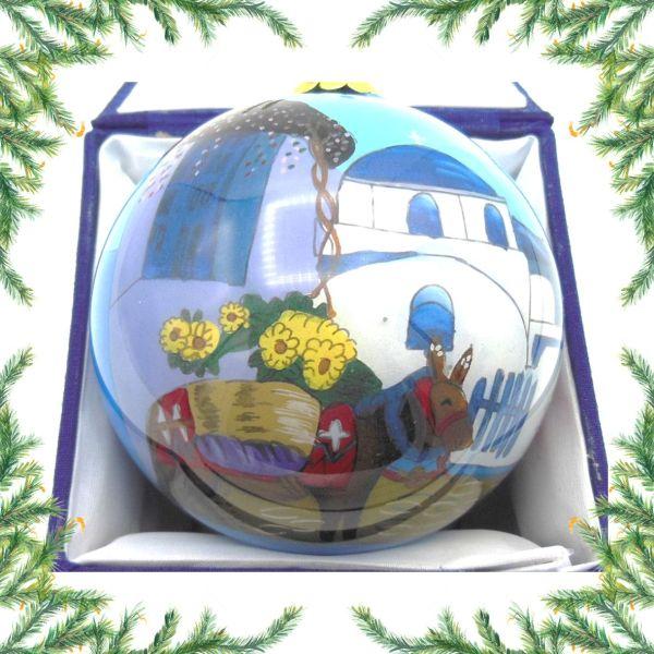 Griekse kerstbal - Grieks ezeltje Kerst