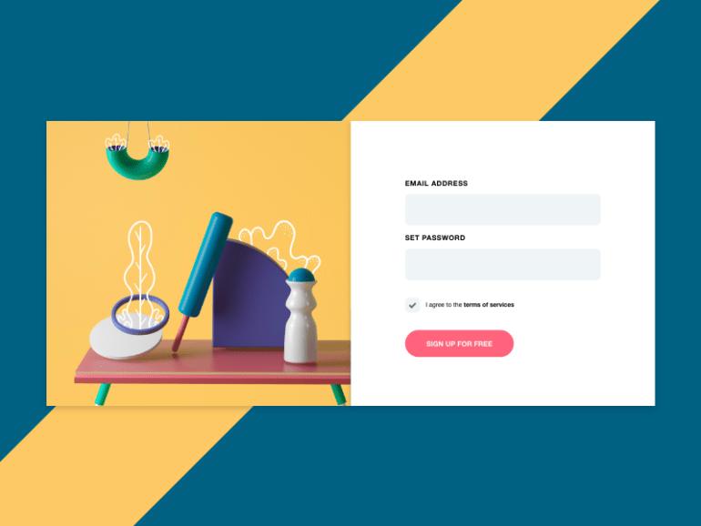 simple login page