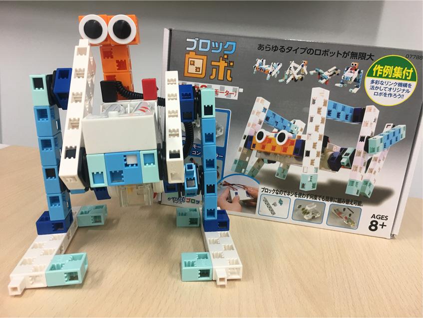 ブロックを組み替えてオリジナルロボットをつくろう!