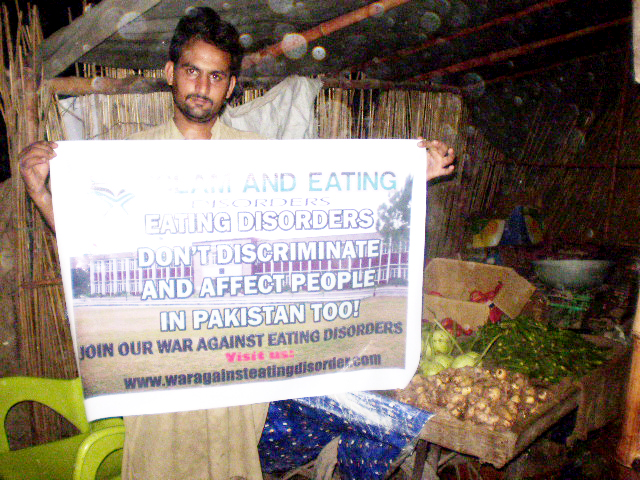 I'm poor and I sell Fruit but I support the 'War Against Eating Disorders'.