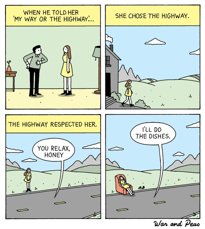 War and Peas - The Highway - Elizabeth Pich and Jonathan Kunz