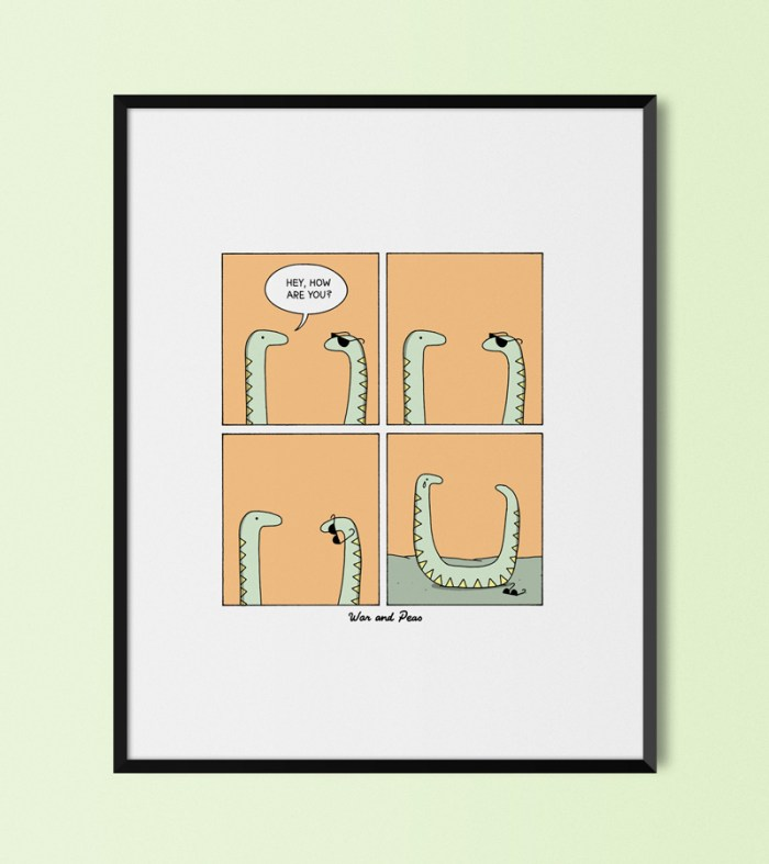War and Peas - Life Is Pointless Print