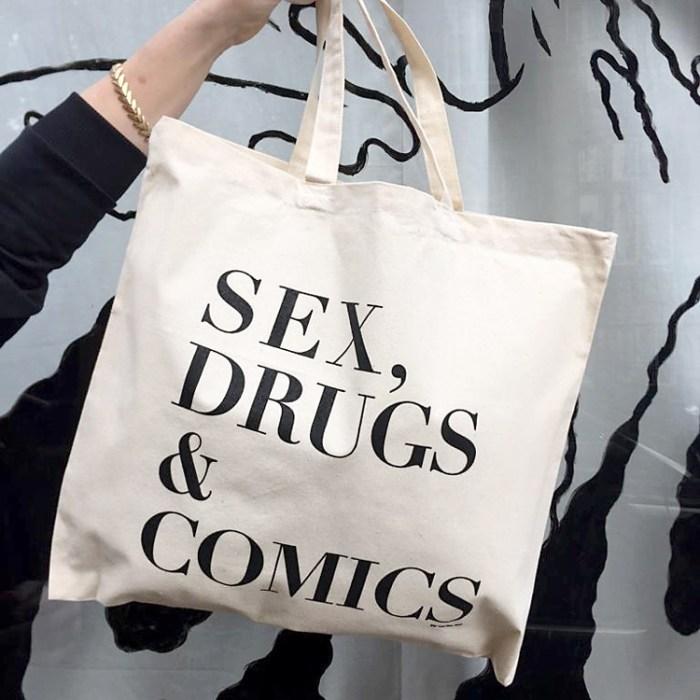 War and Peas - Sex Drugs and Comic Bag