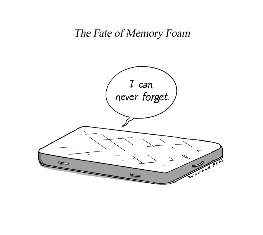 War and Peas - Memory Foam - Elizabeth Pich and Jonathan Kunz