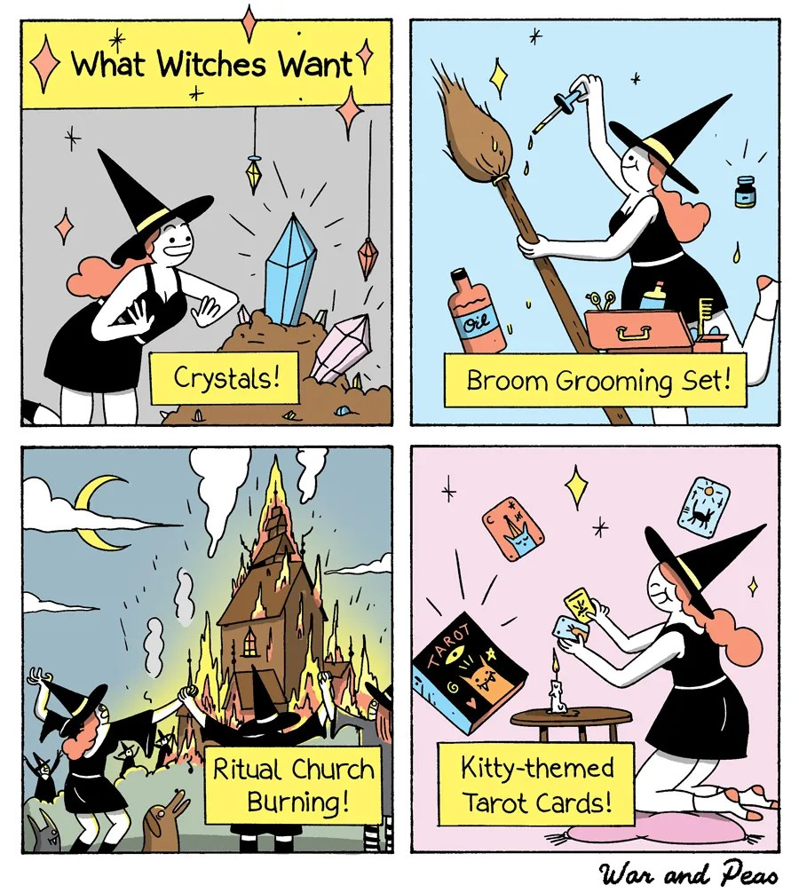 War and Peas - What Witches Want - Jonathan Kunz and Elizabeth Pich
