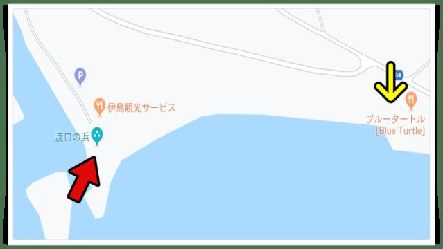 宮古島,地図,絶景,スポット,渡口の浜
