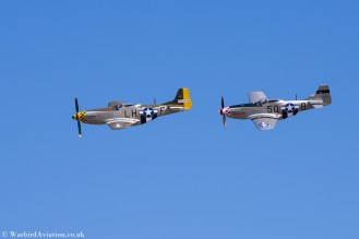 "P-51D Mustang G-MSTG ""Janie"" and G-MRLL ""Marinell"""