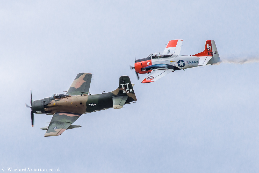 T28 Trojan and Douglas A-1 Skyraider - Wings over Waukegan