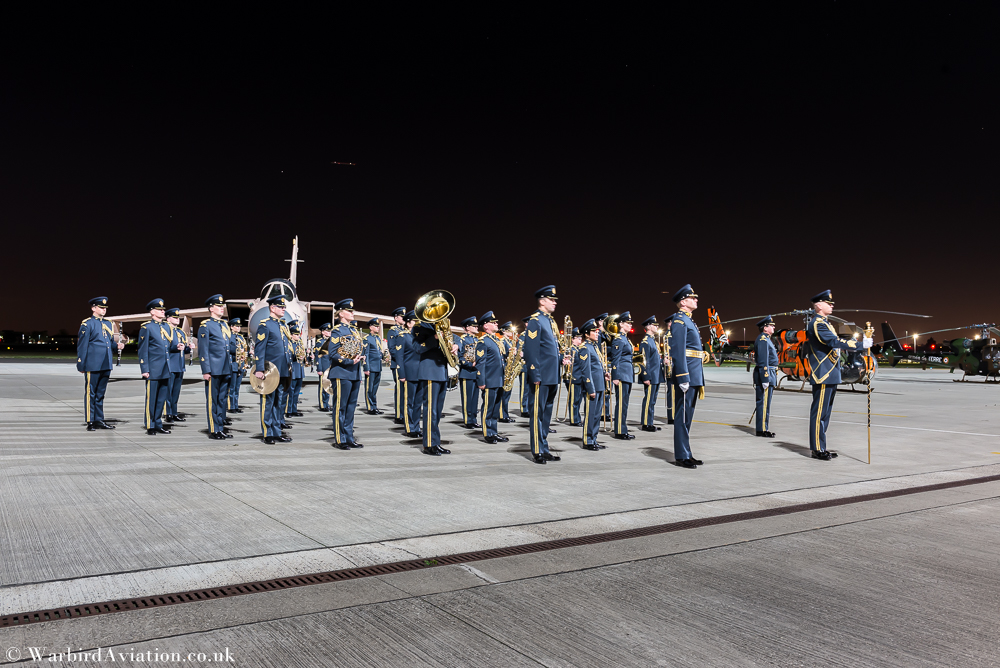 The Central Band Of The Royal Air Force at RAF Northolt Night Shoot
