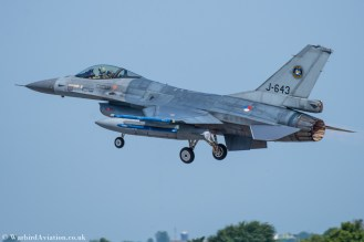 Dutch F-16 Fighting Falcon J-643