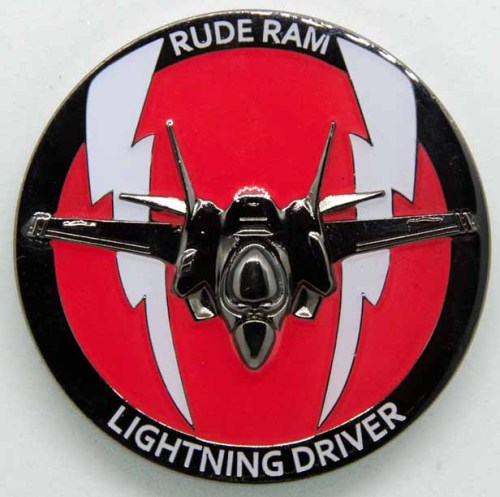 34th Fighter Squadron Challenge Coin Rude Rams