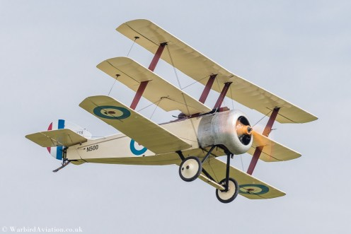 GWDT Sopwith Triplane replica G-BWRA-N500 - Duxford Battle of Britain 2017