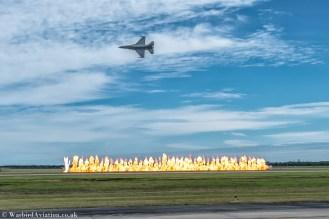 USAF F-16 Viper Demo Wall of Fire