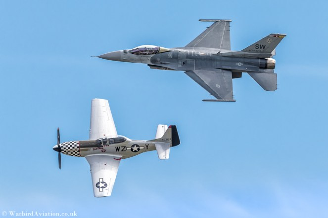 """United States Air Force """"VIPER DEMO TEAM"""" AF930540 F-16C BLK 50 and Cavalier P-51D Mustang N20TF 463187 Bum Steer"""