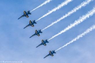 USN Blue Angels 5 Ship Pass