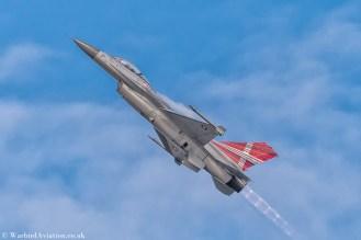 Royal Danish Air Force F-16AM E-607 Demo @ Belgium Air Force Days 2018
