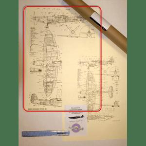 Printed Spitfire poster