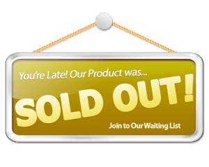 image of sign saying Sold Out