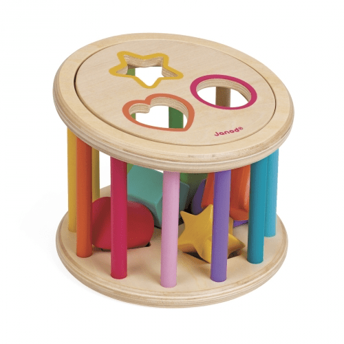 I Wood Shape Sorter Drum