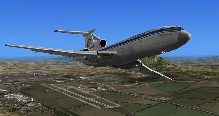 TU154 Ұшу кезінде