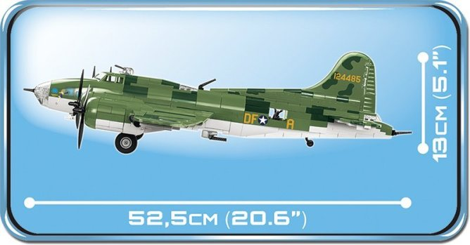 COBI B-17 Memphis Belle Bomber Set length