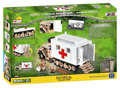 COBI Ford V3000S Maultier Ambulance Set Box