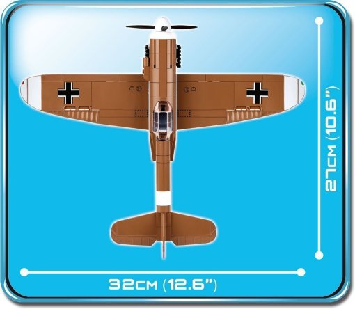 Cobi BF 109 F-4 Brick Set Dimensions