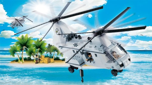 Cobi CH46 Heavy Lift Helicopter Set Best Price