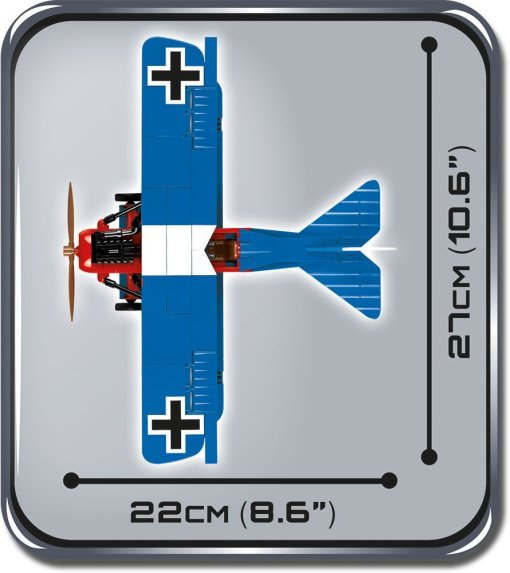 Cobi Fokker D VII Brick Set Size