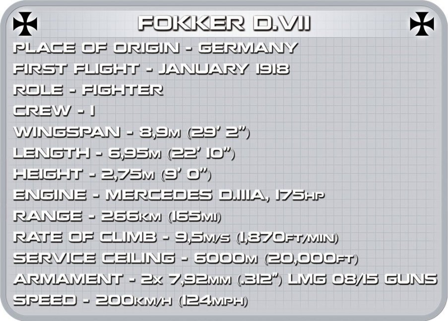 Cobi Fokker D VII Brick Set Specs