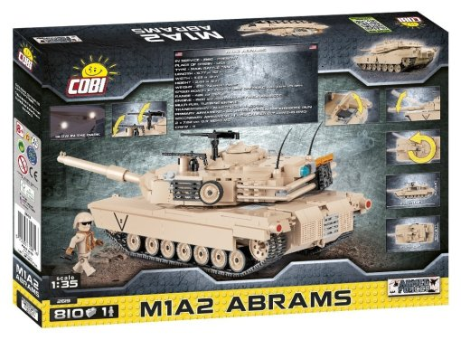 Cobi M1A2 Abrams Tank Set Rear box