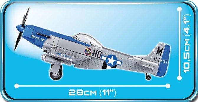 Cobi P-51 Mustang Set Length