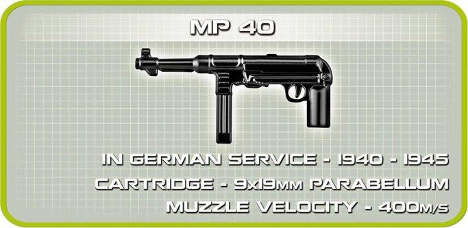 Cobi Panzer IV Tank Set (3 in 1) MP 40