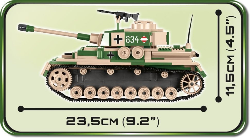 Cobi Panzer IV Tank Set (3 in 1) length