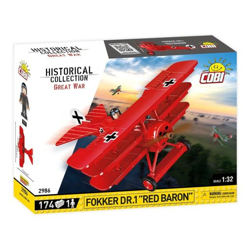 Cobi Red Baron Fokker Tri-Plane (2986)