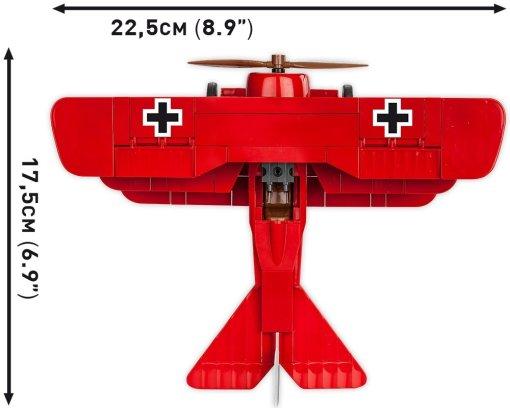 Cobi Red Baron Fokker Tri-Plane Size