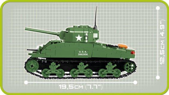 Cobi Sherman M4A1 Tank Set Lenth