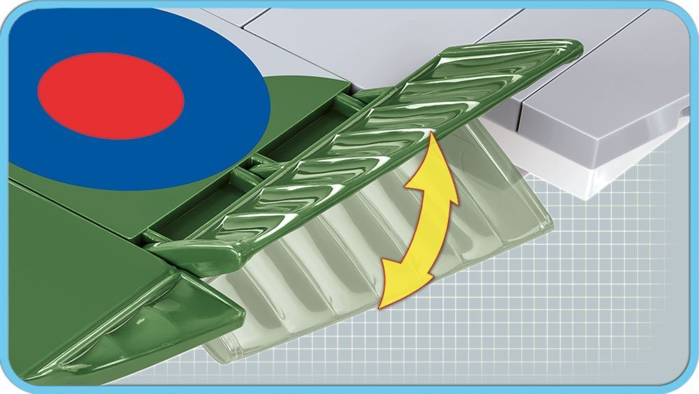 Cobi Spitfire MK VB Set Flap Detail