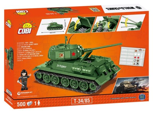 Cobi T-34-85 World Of Tanks Set Box details