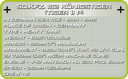Cobi Tiger II tank Set Specs