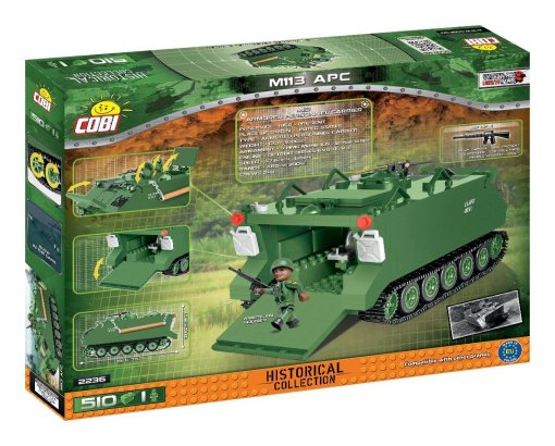 COBI M113 APC Tank Set Box Detail